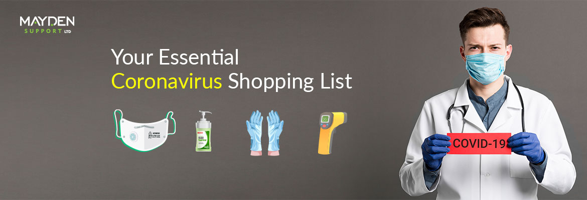 coronavirus shopping list